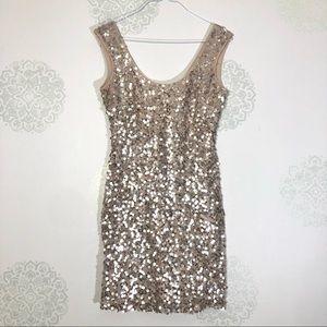 Guess Platinum Sequin Dress